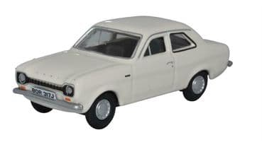 OXFORD DIECAST 76FE003  1:76 OO SCALE Ford Escort Mk1 Ermine White